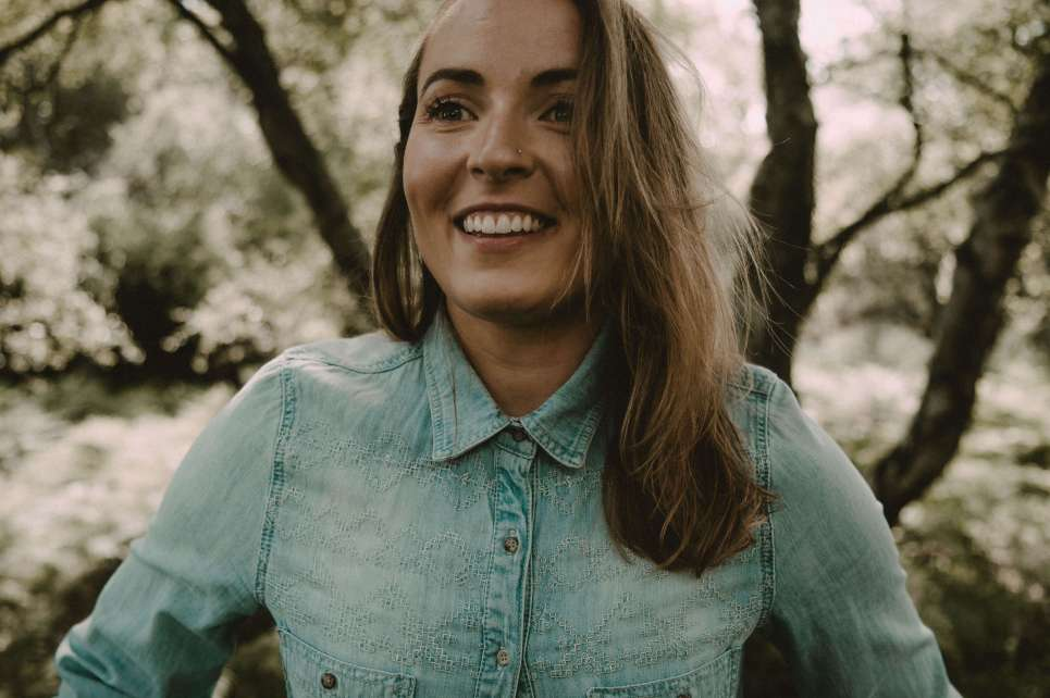 Smiling in demin
